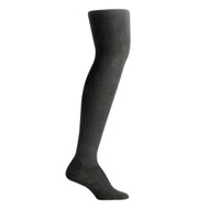Bearfoot Women's PK1 Cotton Rich Opaque Winter Weight Tights with Cotton Gusset - College Grey