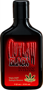 Outlaw Black Intense Hot Lotion w/bronzer 9oz