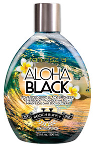 Tan Asz U Aloha Black Tanning Lotion with 200X Bronzers, 13.5oz