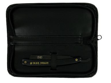 MD Barber Black Dragon Razor with Leather Case