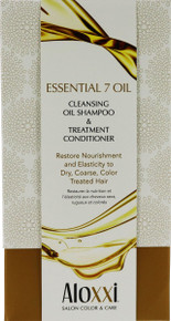 Aloxxi Essential 7 Oil Cleansing Oil Shampoo & Treatment Conditioner Holiday Gift Set.