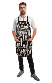 Black and White Vintage Barber Apron by Betty Dain