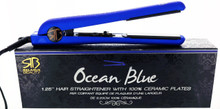 "Ocean Blue 1.25"" Hair Straightener  with 100% Ceramic Plates"