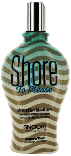 Shore To Please Tanning Lotion with Advanced Dark White Bronzer by Snooki