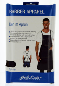 Betty Dain Denim Barber Apron. #184