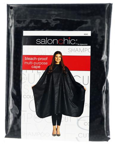 Salonchic bleach proof multi purpose black swirl cape