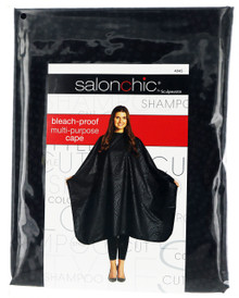 Salonchic bleach proof multi purpose black swirl cape