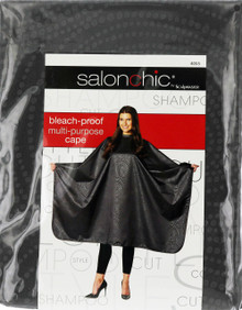 Salonchic by Scalpmaster bleach proof multi-purpose Charcoal Swirl cape