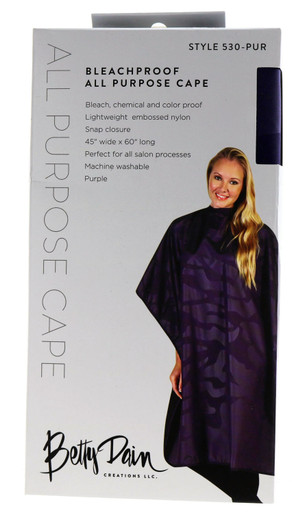 Bleachproof All Purpose Cape in stunning Purple by Betty Dain Creations