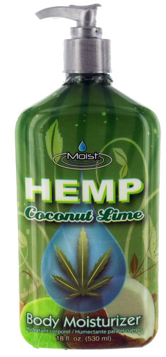 Moist Hemp Coconut Lime Body Moisturizer. 17 fl oz.