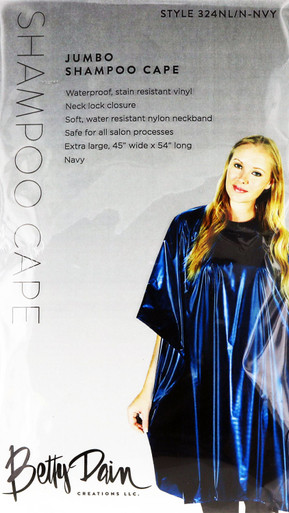Jumbo Shampoo Cape in beautiful Navy Blue