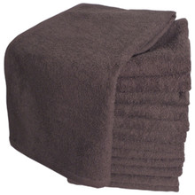 Softees Brown Microfiber Towels - 10 Pack