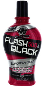 European Gold Flash Black 500X Tanning Lotion with Ultra Black Bronzers. 12 fl oz
