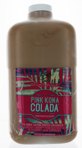 Tan Inc. Brown Sugar Pink Kona Colada Tanning Lotion with 200X Satin Finish Bronzer in 64oz Professional Size