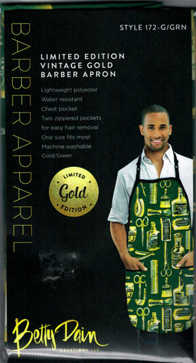 Limited Edition Vintage Gold Barber Apron by Betty Dain Creations