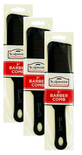 "3 Pack of Scalpmaster 9"" Barber Comb"