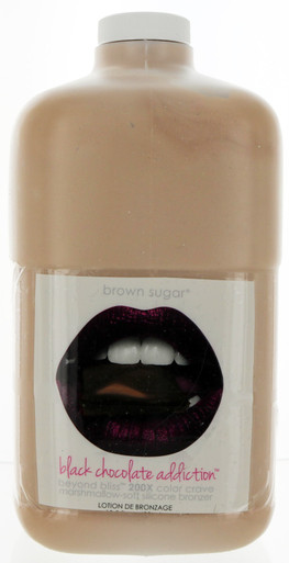 Tan Inc Brown Sugar Black Chocolate Addiction Tanning Lotion with excellent bronzers.