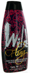 Wild Fling Tanning Lotion with Bold Black Bronzers by Tanovations. 10 fl oz.