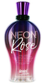 Neon Rose Tanning Lotion with Streak-Free and Stain Free Natural Bronzers. 12.25 fl oz