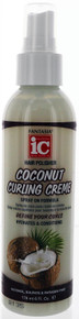 Fantasia Hair Polisher Coconut Curling Creme, spray on formula 6 fl oz.