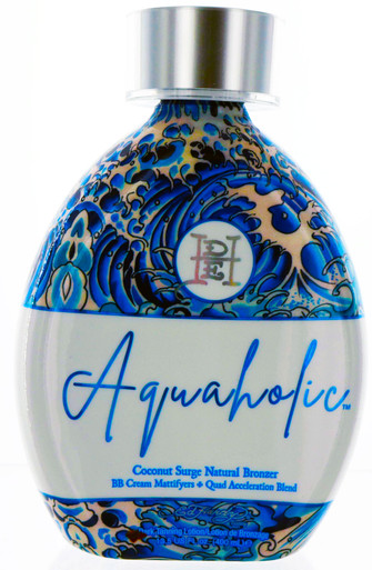 Ed Hardy Aquaholic Tanning Lotion with natural bronzers 13.5 fl oz