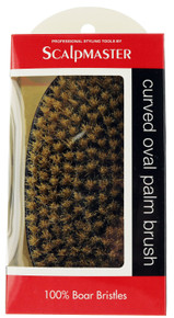 This is an excellent Boar Bristle Palm Brush by Scalpmaster.