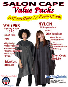 2 Salon Cape Value Packs to choose from from Betty Dain.