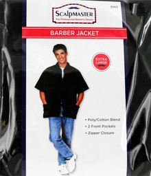 Barber Jacket with 2 Front Pockets and Zipper Closure from Scalpmaster XL.