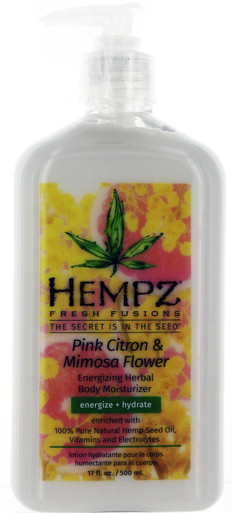 Hempz Pink Citron & mimosa Flower Energizing Herbal Moisturizer, 17oz