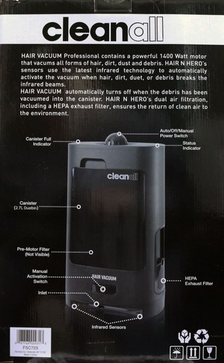 Automatic Hair Vacuum Cleaner by CLEANALL