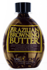 Tannovations Brazilian Browning Butter Tanning Lotion with Bronzer, 13.5 fl oz