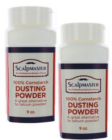 100% Cornstarch Dusting Powder - 2 - 9oz Containers by Scalpmaster