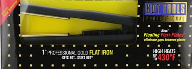 "Hot Tools Professional Gold 1"" Salon Flat Iron. Mdl. 1171"