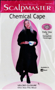 Black Chemical Cape by Scalpmaster