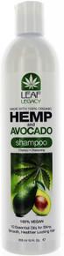 Hemp and Avocado Shampoo by Leaf Legacy. 100% Vegan. 12 fl oz