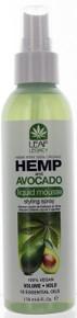 Hemp and Avocado Liquid Mousse Styling Spray by Leaf Legacy. 100% Vegan. 6 fl oz