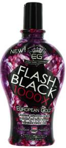 Flash Black 1000X Tanning Lotion with Celebglow Ultra Black Bronzer 12 fl oz