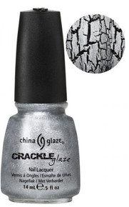 China Glaze Crackle Metal Platinum Pieces Nail Polish .5oz