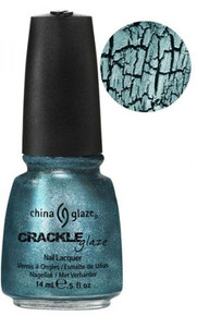 China Glaze Crackle Metal Oxidized Aqua Nail Polish .5oz #80766