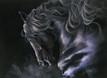 Black Friesian Stallion artwork by Kay Johns