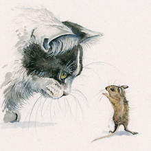 Cat & Mouse artwork by Kay Johns
