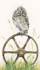 Owl and Mouse painting by Kay Johns