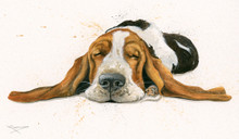 Bassett hound painting by Kay Johns