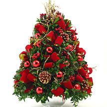 Burgundy Gifts Boxwood Tree