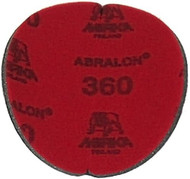 "Abralon Sanding Pad 360 Grit  Do you need to sand your ball down to a different finish? If so, this could be the perfect sanding pad for you. This is a 360 Grit sanding pad. It can be used wet, or dry. It works great with Powerhouse Ball Resurface. This sanding pad will last 5 times longer than sand paper. If you are looking to use a 360 Grit sanding pad on your ball then look at using this Abralon Sanding Pad 360 Grit.  For deep scratches Cosmetically appealing, consistent scratch pattern provides excellent traction Combines the benefits of abrasive cloth and non-woven products Opening in the fabric allows water to flow freely around the abrasive Resists ""caking""Foam center holds large amounts of water for lubrication and cooling Solid surface and foam backing provide even surface pressure Last 5+ times longer than sandpaper Use wet or dry (residual material can be removed by high pressure air)Works great on our Powerhouse Ball Resurfacer SKU: EQUIP074EA Product ID: 3905"