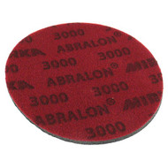 "Abralon Sanding Pad 3000 Grit  Do you need to sand your ball down to a different finish? If so this could be the perfect sanding pad for you. This is a 3,000 Grit sanding pad. It can be used wet, or dry. It works great with Powerhouse Ball Resurface Kit. This sanding pad will last 5 times longer than sand paper.  For deepest scratches Cosmetically appealing, consistent scratch pattern provides excellent traction Combines the benefits of abrasive cloth and non-woven products Opening in the fabric allows water to flow freely around the abrasive Resists ""caking""Foam center holds large amounts of water for lubrication and cooling Solid surface and foam backing provide even surface pressure Last 5+ times longer than sandpaper Use wet or dry (residual material can be removed by high pressure air)Works great on our Powerhouse Ball Resurfacer SKU: CLA2413000 Product ID: 7825"