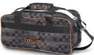 STORM 2 BALL TOTE - CHECKERED BLACK/GOLD