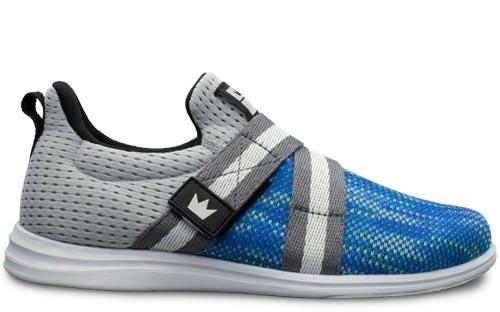 Brunswick Mens Fuze Bowling Shoes Silver//Sky Blue