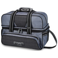 Storm 2 Ball Deluxe Tote Charcoal Plaid/Grey/Black