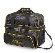 Storm 2 Ball Deluxe Tote Checkered Black/Gold